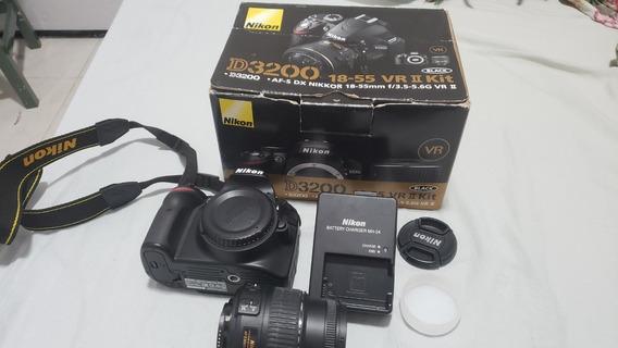 Câmera Nikon D3200 + Lente 18-55mm - Apenas 290 Cliques