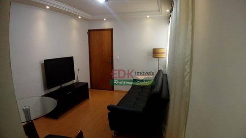 Apartamento Com 2 Dormitórios À Venda, 50 M² Por R$ 215.000 - Alves Dias - São Bernardo Do Campo/sp - Ap8690