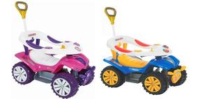 Triciclo Carrinho De Passeio Sofy Dudu Car Empurrador Lindo