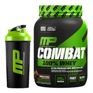Proteína Combat 100% Whey 907g - Musclepharm + Coqueteleira