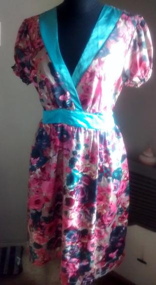 Vestido Floreado Raso 1 Uso