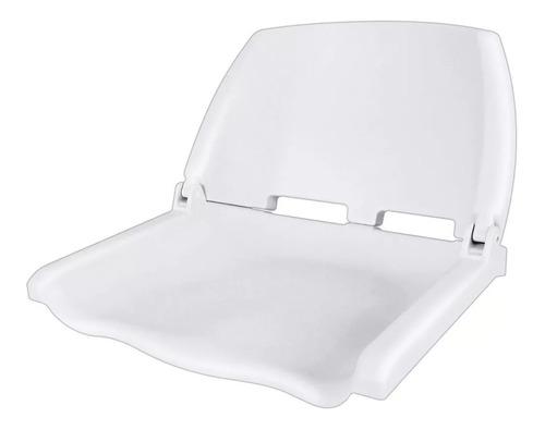 Butaca Plástica Blanca Respaldo Rebatible + Giratorio Blanca