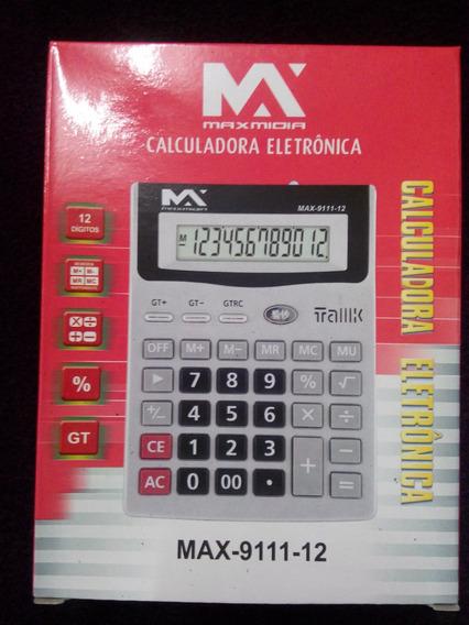 Calculadora Eletrônica 12 Dig.com Luz Teste Nota Falsa 2 Uni