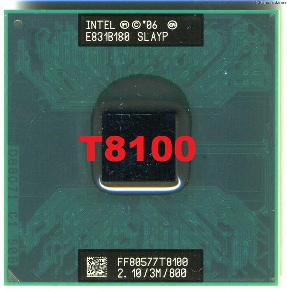 Processador Core2duo T8100 2.1ghz 3mb 800 Fsb Funcionando