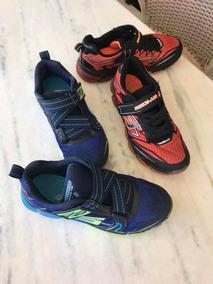 2 Pares De Tênis Skechers Infantil