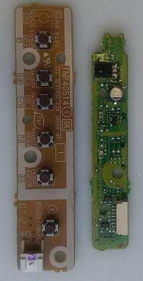 Kit Botão Power Sensor Ir Cabo Lvds Flat Falante Tc-l32c5b