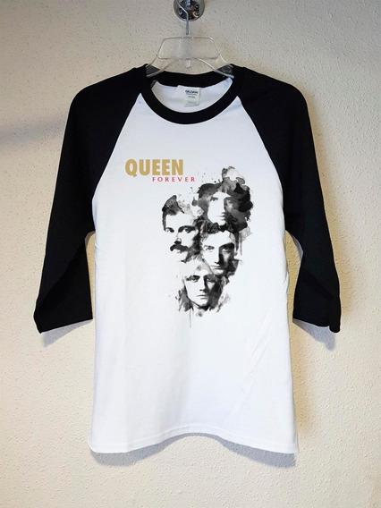 Queen Forever Polera 3/4 Rock Abominatron