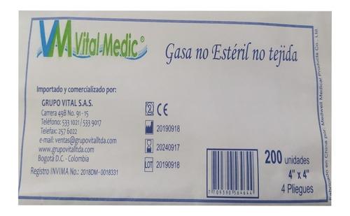 Gasa No Esteril X 200 Unds