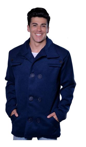 Casaco Masculino Estilo Trench Coat Lã Batida Frio Inverno
