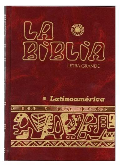 Biblia Latinoamericana Letra Grande 16x22 Cms Envio Full