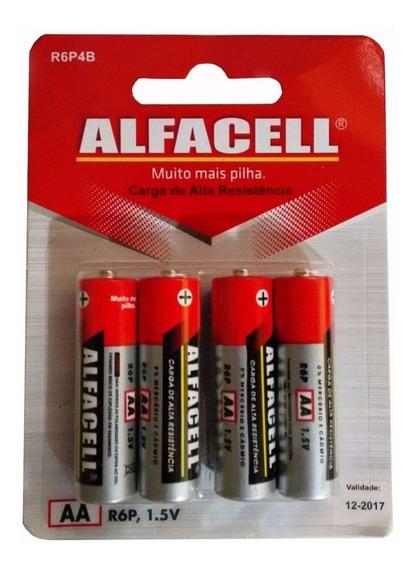 Pilha Aa Alfacell 1,5v Alta Capacidade De Carga