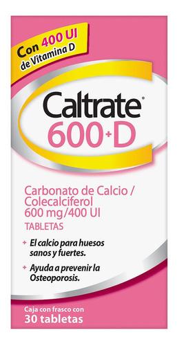 Suplemento Calcio 600 Mas D 600mg 400 Ui 30 Caltrate Gsk