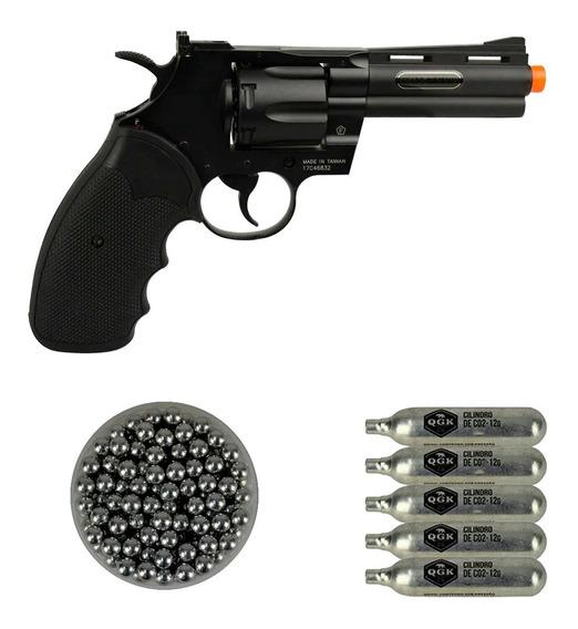 Revólver Airsoft Colt Python Cybergun + Esf Alumínio + Co2