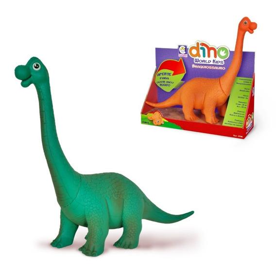 Dinossauro Braquiossauro Dino World Kids Brinquedo Cotiplas