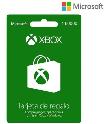 Tarjeta Regalo Xbox $60.000 Región Colombia