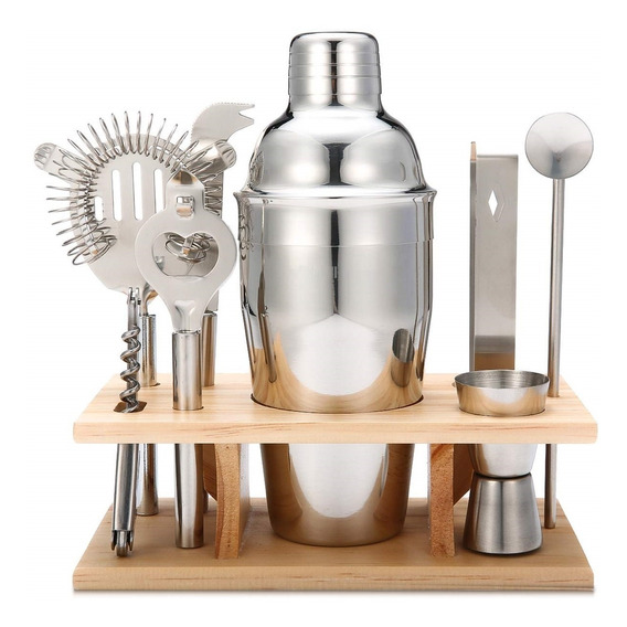 Set Barman Profesional - Set Cocteleria 9 Pc Acero. Inox