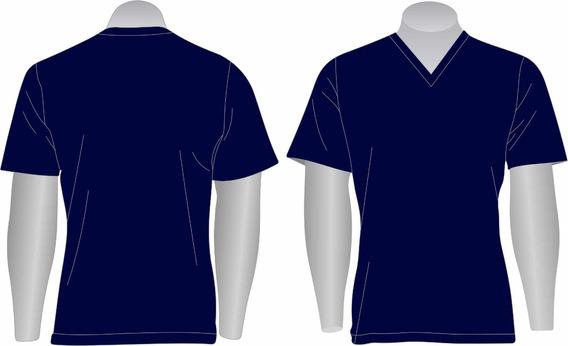 Kit 10 Camisetas Básica Gola V Pv 65% Poliéster 35% Viscose