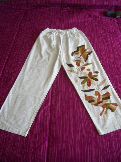 Pantalón Con Bordados Tradicionales Tenangos