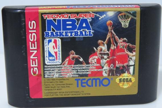 Tecmo Super Original Nba Basketball Sega Genesis Mega Drive