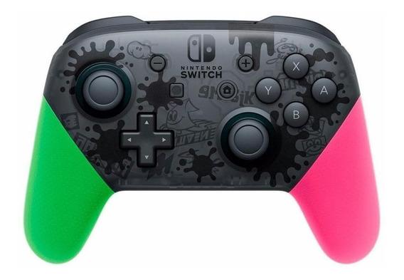 Controle joystick sem fio Nintendo Pro Controller Switch splatoon 2 edition