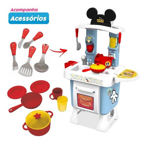 Imagem 1 de 8 de Cozinha Fantástica Mickey Completa Com Forno Panelas Xalingo