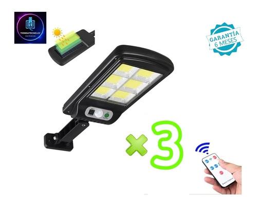 Imagen 1 de 8 de 3 Lamparas Luz Foco Solar 240 Led Exterior C/ Sensor,control