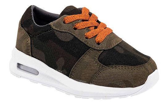 Gcitos Sneaker Casual Textil Verde Niño Bto85419