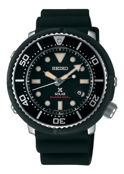 Relógio Seiko Sbdn043 Solar Dive Tuna Black Japan Prospex