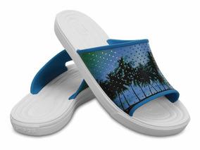 Sandalia Crocs Citilane Roka Tropical Electric Blue/white