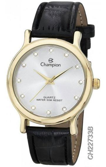Relógio Champion Feminino Pulseira De Couro Ch22733b