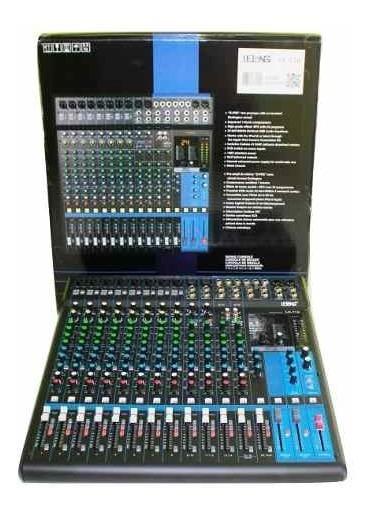 Mesa De Som Profissional Mixer 16 Ch 8 Entradas De Microfone