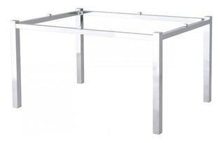 Base Mesa Aluminio Polido Cozinha Sala Jantar - Desmontável