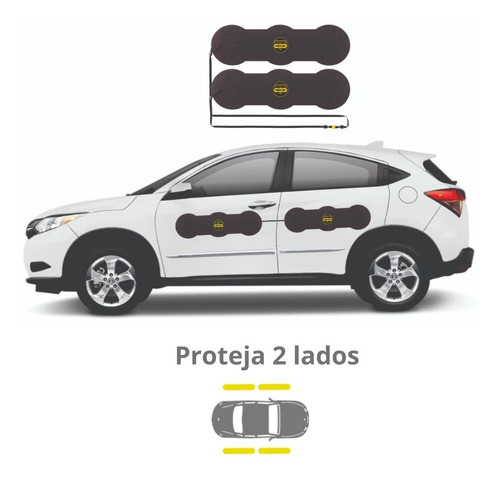Imagem 1 de 4 de Protetor De Porta Para Carros Shields - Largo Kit C/ 4 Prote