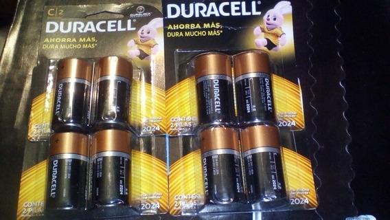 Pilas O Baterías Alkalinas Tipo C Duracell Original El Par