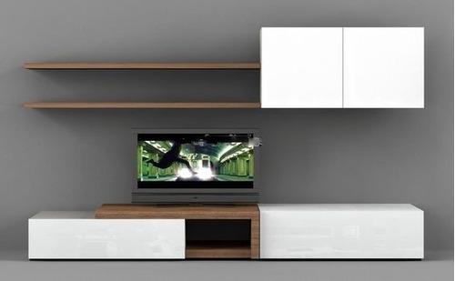 Modular Lcd Tv Organizador Rack Laqueado