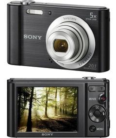 Camera Digital Sony Dsc W800 Preto 20.1mp 5x Zoom Optico