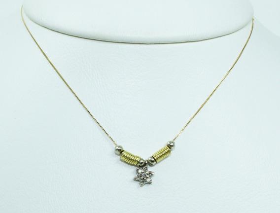 Pocao2005- Colar De Ouro 18k75 Diamantes 12x S/j Ft/gt C294