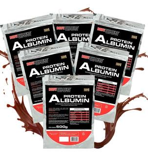 6x Albumina 500g Bodybuilders Total 3kg - Frete Grátis!