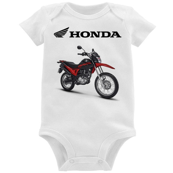 Body Bebê Moto Honda Nxr 160 Bros Vermelha E Preta