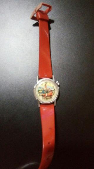 Relógio Antigo Infantil Made Swiss, Cachorro Pula
