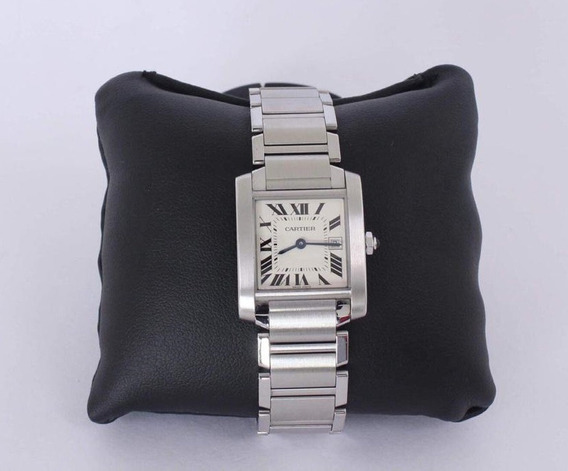 Cartier Tank Francaise Mediano Unisex Acero