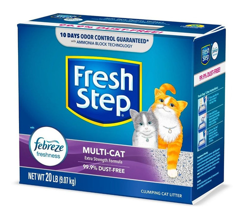 Arena Para Gatos Fresh Step Multi Cat Con Febreze 20 Lb