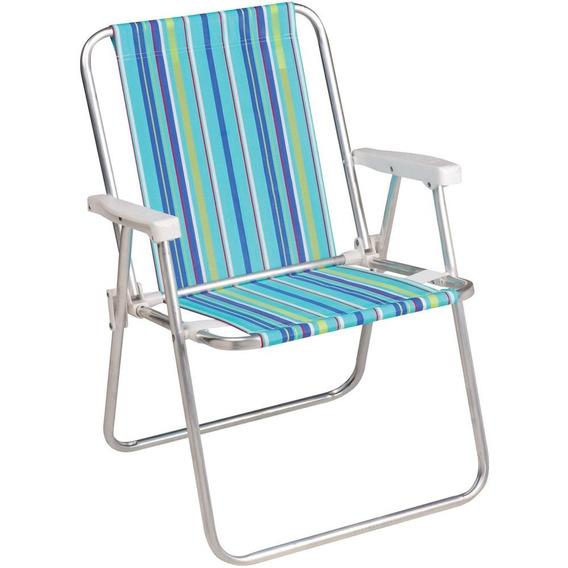 Cadeira Alumínio Alta 2101 (cores Div.) Mor Mor