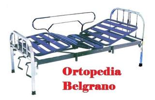 Cama Ortopedica Con 2 Barandas Y Colchon Hospitalario