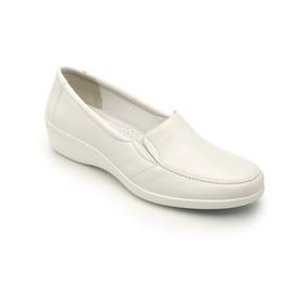 Zapato De Piso Servicio Blanco Estilo 18112