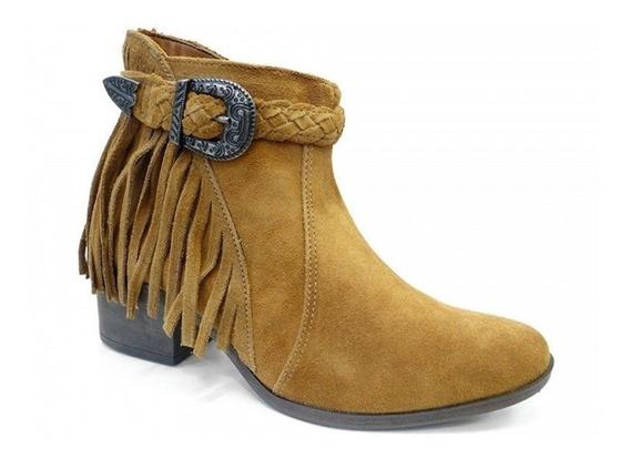Bota Ankle Boot De Camurça B7851 Dakota (25) - Mostarda