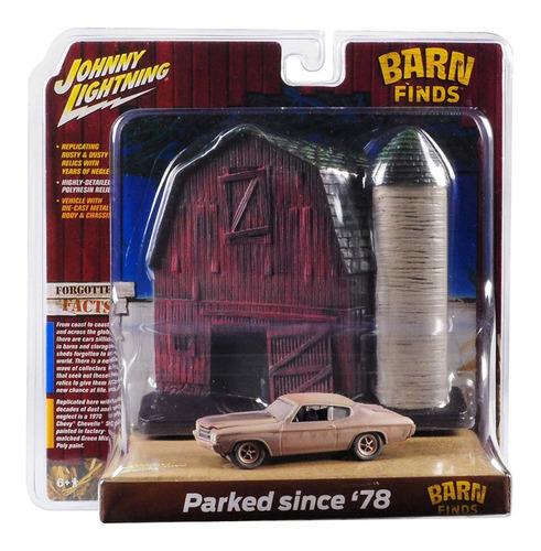 Imagem 1 de 1 de Johnny Lightning Barn Find Cars Diorama 1/64
