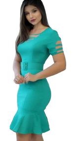 Vestido Evangélico Com Cinto Moda Joven Roupas Feminina.