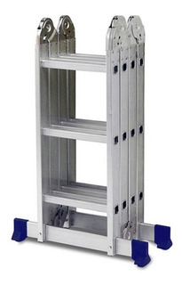 Escada De Aluminio Dobravel 4x3 12 Degraus Até 150kg 12x S/j