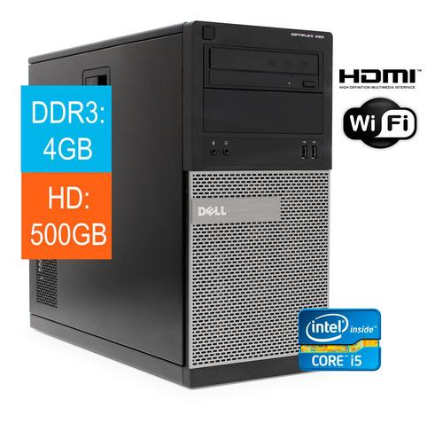 Desktop Dell Optiplex Torre 390 I5 2400 4gb Hd 500gb Wind10